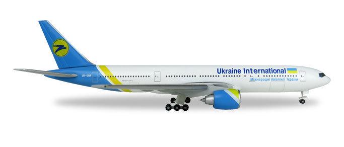 Herpa Wings Neuware 531122 Ukraine International  B777-200 UR-GOA 1:500