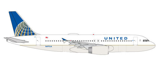 Herpa Wings 531252 United Airlines A320