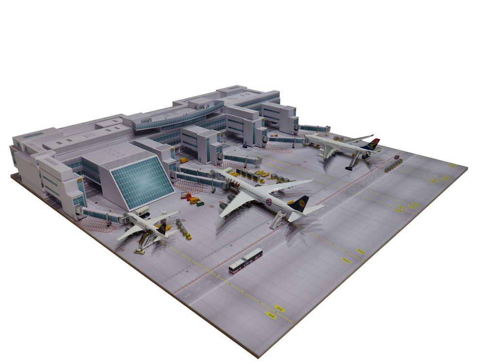 Herpa Wings 1:500 Hangar Flughafengebäude
