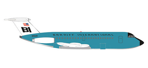 533010  Braniff International BAC 1-11-200 Jelly bean Turquoise Herpa Wings