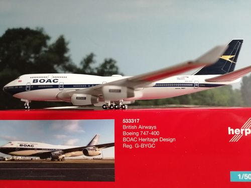 533317  British Airways Boeing 747_400 100th anniversary BOAC Heritage Design