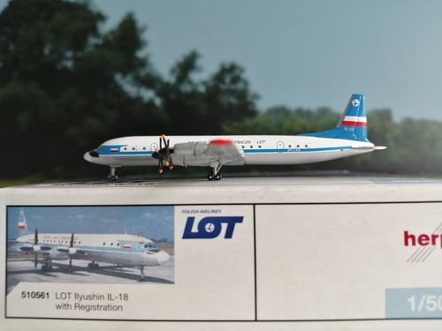 Herpa Wings 1:500 LOT - Polish Airlines Ilyushin IL-18 SP-LSE #510561
