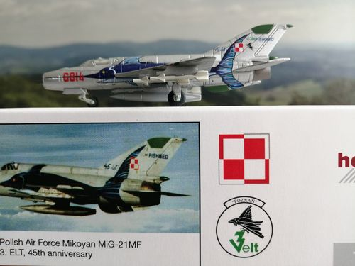1:200 Herpa Wings Polish Air Force 3. ELT 45th Anniversary - Mikoyan MiG-21MF