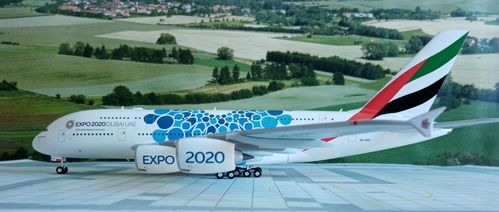 "Emirates - Expo 2020 Dubai ""Mobility""-livery Airbus A380 36cm Länge"