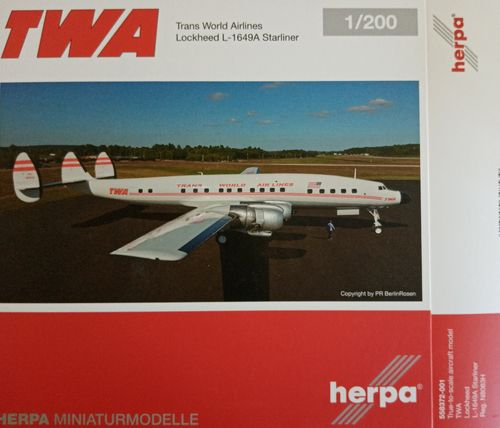 Herpa Wings 1:200 TWA - Trans World Airlines Lockheed L-1649A Jetstream