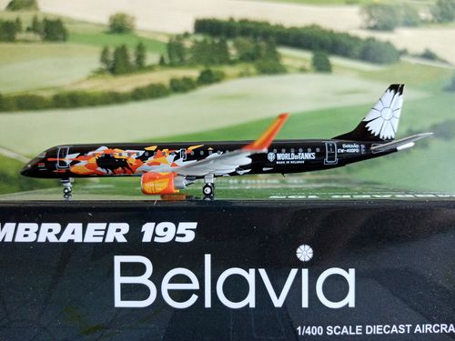 JCLH4138 - 1/400 BELAVIA BELARUSIAN AIRLINES EMBRAER 190-200LR WORLD OF TANKS EW-400PO