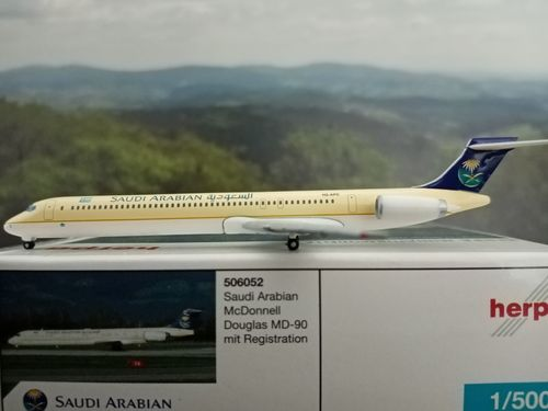 Herpa Wings 1:500 Saudi Arabian Airlines MD-90 506052 *selten* world-of-wings