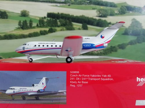1:200 Herpa Wings Czech Air Force Yakovlev Yak-40 559898 #world-of-wings