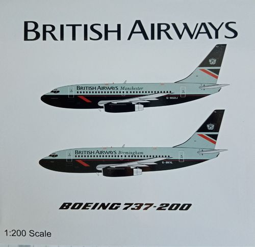 "1/200 WB-Models 1/200 British Airways B737-200 G-BKYL ""titiana"" -Birmingham"