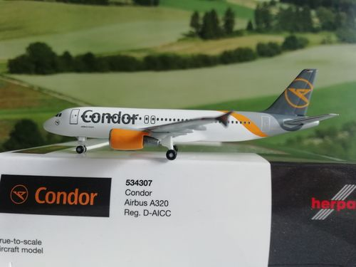 Herpa Wings 1:500 Condor Airbus A320 - new 2019 colors D-AICC 534307
