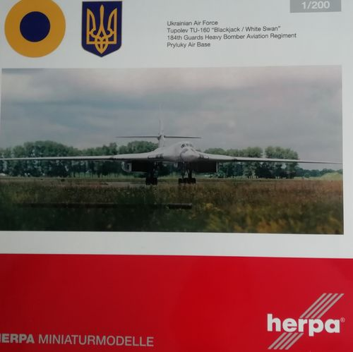 "570824 Herpa Wings Ukrainian Air Force Tupolev TU-160 ""Blackjack"""