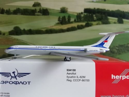 herpa wings 1:500 534130 Aeroflot Ilyushin IL-62M CCCP-86700 #world-of-wings