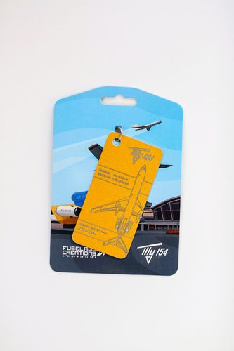 Fuselage Creations Tupolev TU-154B Reg UR-XXX  Luggage Tag one colour